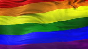 Bakgrund för flagga för LGBT-regnbåge vinkande Royaltyfri Foto