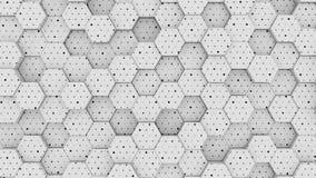 Bakgrund för flyttning för geometriskt raster för område för abstraktionbikupasexhörning ljust rent vinkande stock illustrationer