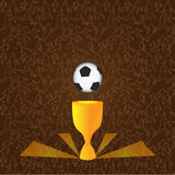 Fotboll kuper Royaltyfri Bild
