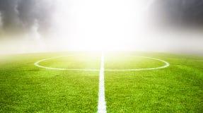 Bakgrund för fotbollfält Arkivfoton