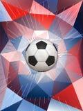Bakgrund för Frankrike fotbollboll Royaltyfri Fotografi
