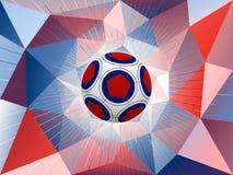 Bakgrund för Frankrike fotbollboll Arkivbild