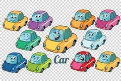 Bakgrund för friläge för uppsättning för samling för bilmedelbil Royaltyfri Bild