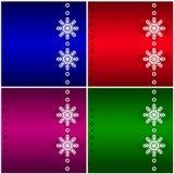Bakgrund för fyra jul. Royaltyfri Fotografi