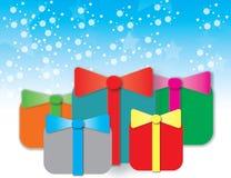 Bakgrund för gåvor för födelsedagparti Stock Illustrationer