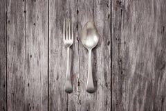 Bakgrund för gaffelskedträ Arkivfoto