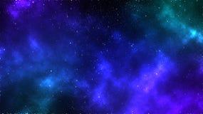Bakgrund för galaxutrymmenebulosa Arkivfoto