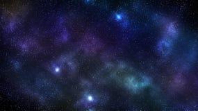 Bakgrund för galaxutrymmenebulosa royaltyfria foton