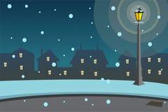 Bakgrund för gatalampa royaltyfri illustrationer