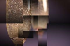 Bakgrund för geometri för mousserande vinexponeringsglas royaltyfri foto