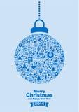 Bakgrund 2014 för glad jul Arkivfoto
