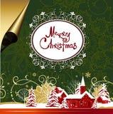 Bakgrund för glad jul. Royaltyfria Foton