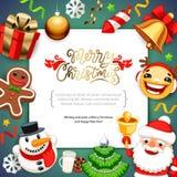 Bakgrund för glad jul med kopieringsutrymme royaltyfri fotografi