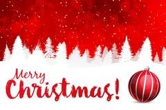 Bakgrund för glad jul med prydnaden Vektor Illustrationer