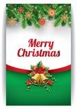 Bakgrund för glad jul med traditionella sugrörgarneringar royaltyfri illustrationer