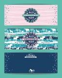 Bakgrund för glad jul med typografi också vektor för coreldrawillustration Royaltyfri Fotografi