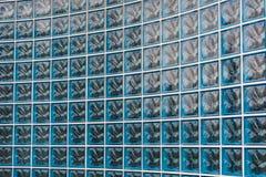 Bakgrund för Glass tegelsten Royaltyfria Bilder