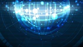 Bakgrund för global cell för vektor abstrakt hög teknologisk Arkivfoton