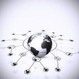 Bakgrund för globalt nätverk Arkivfoton