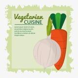 Bakgrund för gräsplan för affisch för kokkonst för lökmorot vegetarisk vektor illustrationer