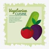 Bakgrund för gräsplan för affisch för kokkonst för tomatbetagurka vegetarisk vektor illustrationer