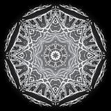 Bakgrund för grå färger för vit för Mandalamonokromsvart Arkivfoton