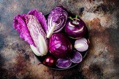 Bakgrund för grönsaker för säsongsbetonad vinterhöst purpurfärgad Baserad strikt vegetarian för växt eller vegetariskt laga mat b royaltyfri bild