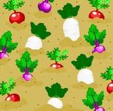 Bakgrund för grönsakträdgård stock illustrationer