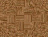 Bakgrund för grund för textur för optisk effekt konkav flätad samman bruna kvarter gjord randig wood royaltyfri fotografi