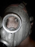 Bakgrund för grunge för gasmask för manwear Royaltyfria Bilder