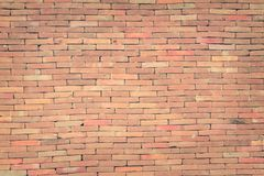 Bakgrund för grunge för textur för väggen för röd tegelsten med vignetted hörn, kan använda till inredesignen fotografering för bildbyråer