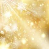 Bakgrund för guld- ferie för jul glödande Vektor för EPS 10 royaltyfri illustrationer