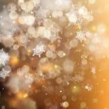 Bakgrund för guld- ferie för jul glödande Vektor för EPS 10 Arkivfoto