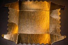 Bakgrund för guld- folie Royaltyfri Bild