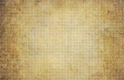 Bakgrund för guld- ockra för tappning geometrisk med cirklar Arkivfoton