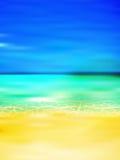 Bakgrund för havssommarlandskap Arkivfoto