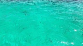 Bakgrund för havsvatten Vinkande vattenyttersida Arkivbilder