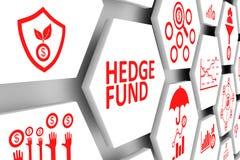Bakgrund för HEDGE FUND begreppscell stock illustrationer