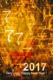 Bakgrund för helgdagsafton för ` s för nytt år Arkivbilder