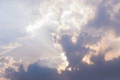 Bakgrund för himmel för stormmoln Royaltyfria Bilder