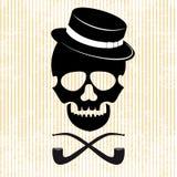 Bakgrund för Hipsterskallediagram Royaltyfri Foto