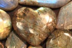 Bakgrund för hjärtalabradoritemineral Royaltyfri Bild