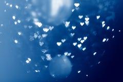 Bakgrund för hjärtaljusabstrakt begrepp Royaltyfri Bild