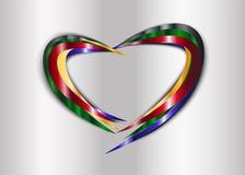 Bakgrund för hjärtametallabstrakt begrepp Royaltyfri Bild