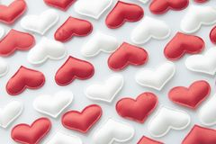 Bakgrund för hjärtor för dag för valentin` s Royaltyfria Foton