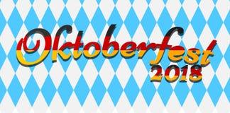 Bakgrund för illustration för Oktoberfest ferieöl Isolerade festlig tysk för den bayerska munich garneringhändelsen vit Glass kar royaltyfri bild