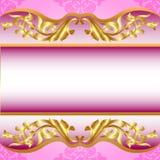 Bakgrund för inbjudan på ferieguldmodell Royaltyfri Fotografi