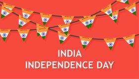 Bakgrund för Indien självständighetsdagenland Indier för vektor för Republick flaggapatriotism För begreppsbaner för frihet trico royaltyfri illustrationer