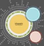 Bakgrund för Infographic beståndsdelcirkel Royaltyfri Foto