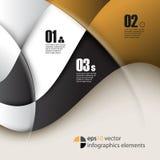 Bakgrund för infographics för vektorvågbeståndsdelar Arkivfoto